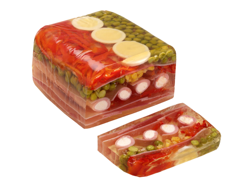 Aspic loaf with horseradish